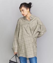 <GROVE SEOUL>チェックボタンダウンシャツ -2WAY- ◆