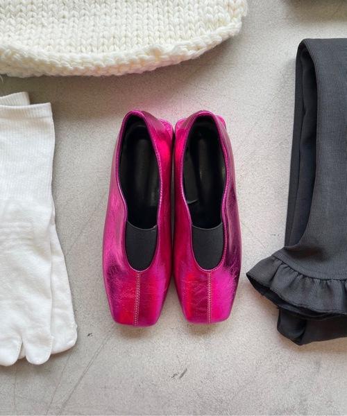 【SANSeLF】 Se metallic flat shoes sans1