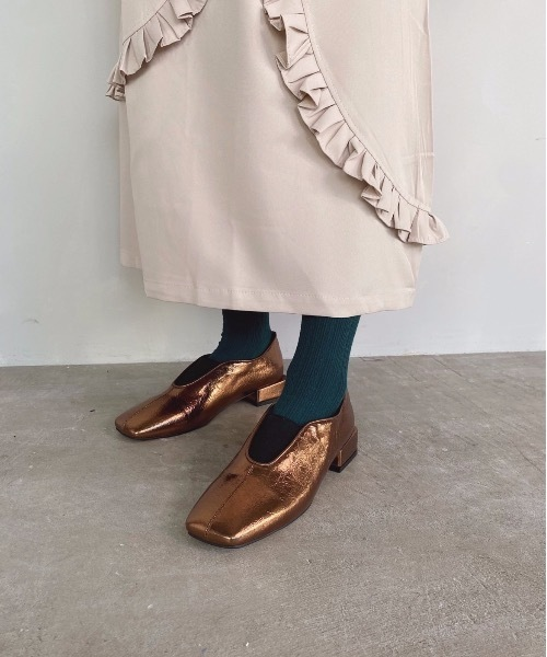 【SANSeLF】 Se metallic flat shoes sans1