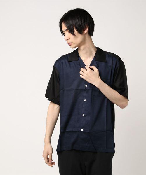 【BURNER SELECT】レーヨン オープンカラー 半袖シャツ