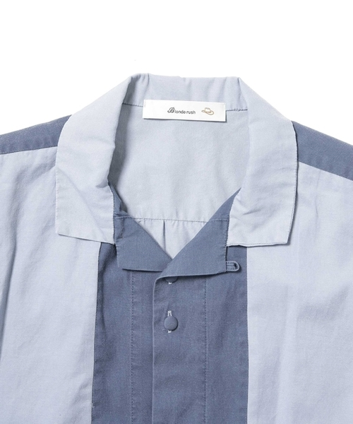 Blonde rush:別注レーヨンオープンカラーシャツ