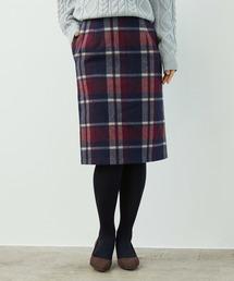 ROPE' PICNIC(ロペピクニック)の【着丈が選べる】ビッグチェックアイラインスカート(スカート)
