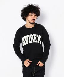 AVIREX(アヴィレックス)のavirex/ アヴィレックス/  L/S CREW NECK SWEAT LOGO/ 長袖 クルーネック スウェット ロゴ (スウェット)