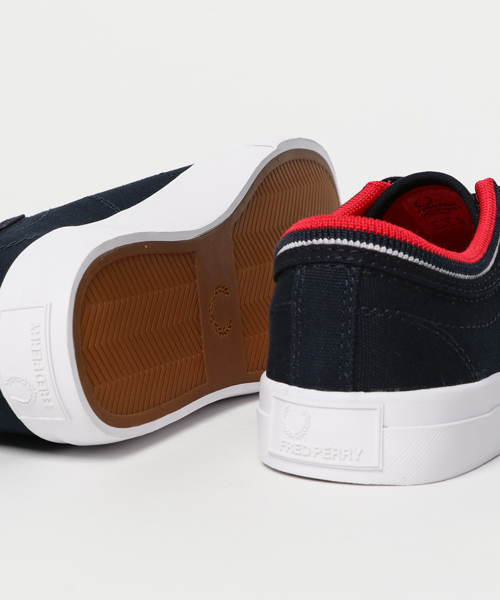FRED PERRY KENDRICK TIPPED CUFF CANVAS (NAVY/RED/WHITE) (17SS)