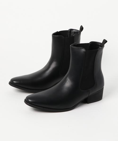 LOVEHUNTER(ラブハンター)の「LOVE HUNTER ハイヒールサイドゴアブーツ / 6812【*】(ブーツ)」|ブラック