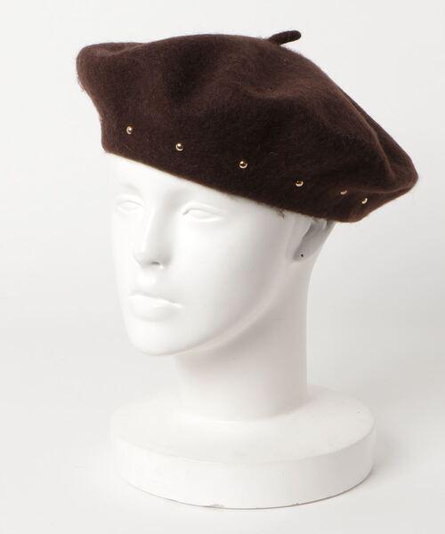 Bou Jeloud(ブージュルード)の「スタッズベレー帽(ハンチング/ベレー帽)」|ブラウン