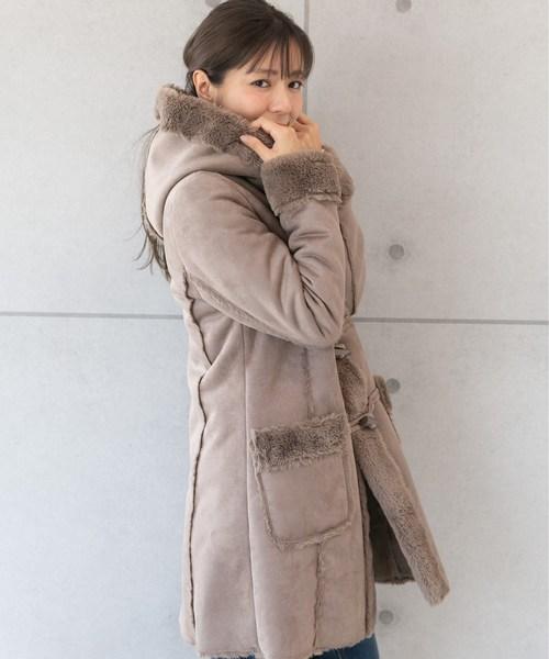 페이크(fake) 무똥(Mouton) 더플 코트【TOKYO MX NEWS 프로그램 착용】