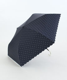 Afternoon Tea(アフタヌーンティー)のスカラップドットプリント晴雨兼用折りたたみ傘 日傘(折りたたみ傘)