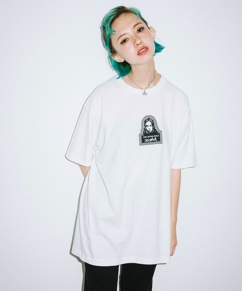 X-girl(エックスガール)の「FACE S/S MENS TEE(Tシャツ/カットソー)」|ホワイト