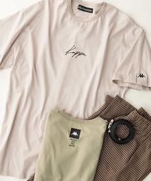 Kappa(カッパ)のKappa/カッパ 別注 刺繍ロゴ ビッグシルエット半袖Tシャツ(Tシャツ/カットソー)