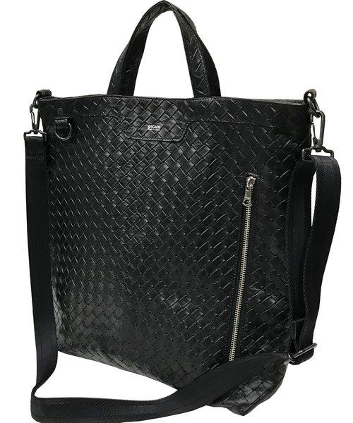 DECADE(ディケイド)の「カウレザー2wayトートバッグ DECADE(No-01189L) Cow Leather 2way Tote Bag (M)(トートバッグ)」|ブラック系その他