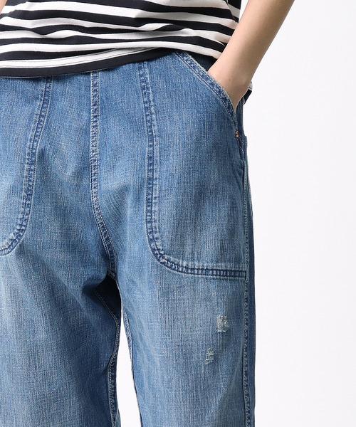 【GRANDMA MAMA DAUGHTER/グランマ ママ ドーター】DENIM SIDE ZIP PANTS サイドジップデニムパンツ GP007