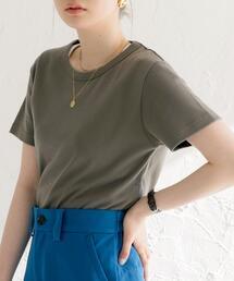 汗染み防止機能付きシンプルクルーネックTシャツ