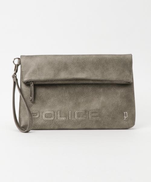 POLICE(ポリス)の「【POLICE】 ポリス  クラッチバッグ(クラッチバッグ)」|ゴールド