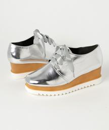 KOBE LETTUCE(コウベレタス)のオシャレな人はもう履いてる♪注目の厚底オジ靴!プラットフォームオックスフォードシューズ/レディース[I1403]神戸レタス(ドレスシューズ)