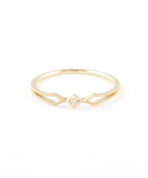 2019超人気 K18YG ダイヤモンド ete リング「JWレイヤード」(リング) ダイヤモンド|ete bijoux(エテビジュー)のファッション通販, きものe-shopおうみ屋:74857374 --- blog.buypower.ng