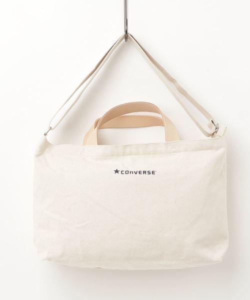 【CONVERSE】コンバース キャンバスレザー2WAYバッグ