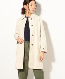 綿麻ステンカラーコート