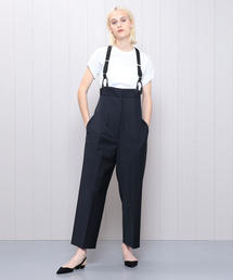 <H>HIGH WAIST SUSPENDER PANTS/パンツ.