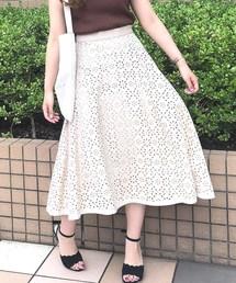 MISCH MASCH(ミッシュマッシュ)のジャガードフレアースカート(スカート)