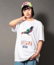 【STAPLE】ビッグシルエット フロントプリントクルーネックTシャツ(Tシャツ/カットソー)