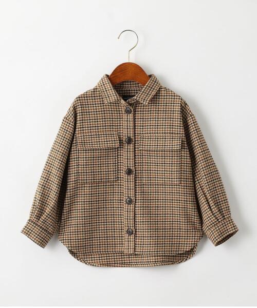 【キッズ】チェックCPOシャツ
