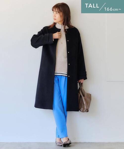【WEB限定】[ TALL /H166㎝~]ショート ビーバー ノーカラー コート