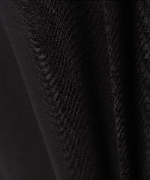 【手洗い可】ボートネック右脇スリットドルマンスリーブプルオーバーカットソー