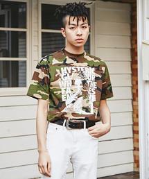 GLASSES WOMAN プリント Tシャツ