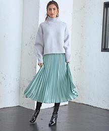 CS カラープリーツスカート