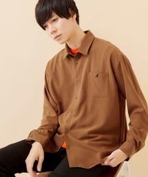 KANGOL/カンゴール 別注 L/S オーバーサイズレギュラーカラーシャツ(2019AW)ダークブラウン