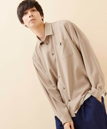 KANGOL/カンゴール 別注 L/S オーバーサイズレギュラーカラーシャツ(2019AW)ベージュ