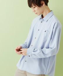 KANGOL/カンゴール 別注 L/S オーバーサイズレギュラーカラーシャツ(2019AW)ブルー