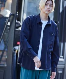 KANGOL/カンゴール 別注 L/S オーバーサイズレギュラーカラーシャツ(2019AW)ダークネイビー