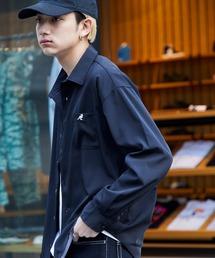 KANGOL/カンゴール 別注 L/S オーバーサイズレギュラーカラーシャツ(2019AW)ブラック
