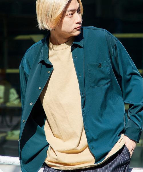 KANGOL/カンゴール 別注 L/S オーバーサイズレギュラーカラーシャツ