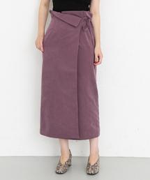 KBF+(ケービーエフプラス)のKBF+ ラップロングタイトスカート(スカート)