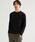 green label relaxing(グリーンレーベルリラクシング)の「CM フェイクレイヤード クルー LS カットソー(Tシャツ/カットソー)」|ブラック
