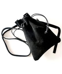 【インフルエンサー多数着用】Rename スエード 巾着バッグ  / ショルダーバッグ  (ユニセックス)ブラック
