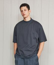 <H>DOUBLE COTTON MOCK NECK T-SHIRT/Tシャツ
