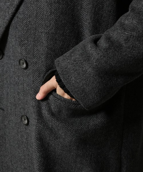 アルパカミックス ダブルブレスト コート