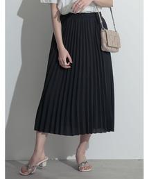 Re:EDIT(リエディ)のミモレ丈ジョーゼットプリーツスカート(スカート)