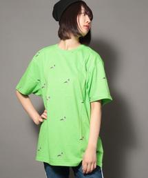 【STAPLE】ビッグシルエット 総柄ビジョンプリントTシャツ(Tシャツ/カットソー)
