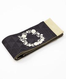 ふりふ(フリフ)の半巾帯「花冠刺繍」(和装小物)