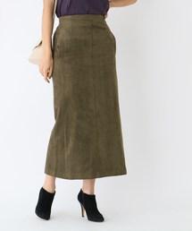 aquagirl(アクアガール)のフェイクスエードロングタイトスカート(スカート)