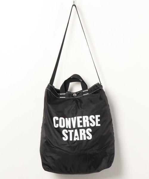 CONVERSE STARS(コンバーススターズ)の「ナイロンリップパッカブルショルダー(ショルダーバッグ)」|ブラック