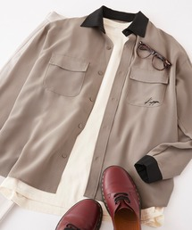 Kappa(カッパ)のKappa/カッパ 別注 リラックスレギュラーカラーオーバーサイズ長袖CPOシャツ(シャツ/ブラウス)