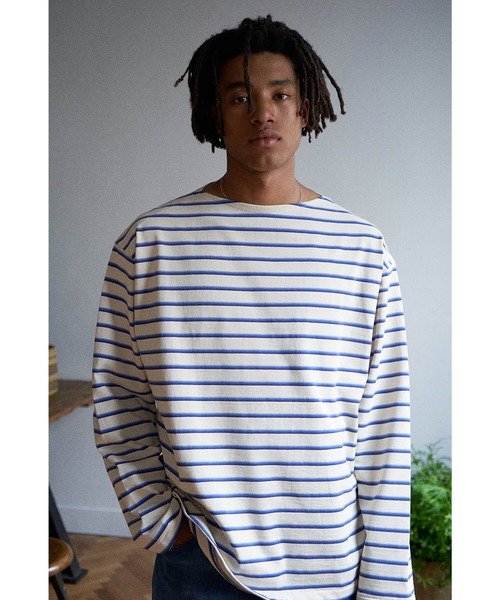 unfil(アンフィル)の「【unfil】コットンジャージ ブルトンシャツ MEN(Tシャツ/カットソー)」|キナリ