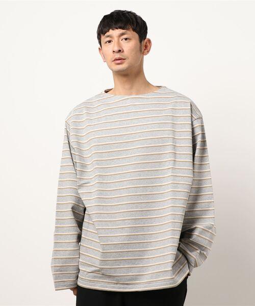 unfil(アンフィル)の「【unfil】コットンジャージ ブルトンシャツ MEN(Tシャツ/カットソー)」|詳細画像