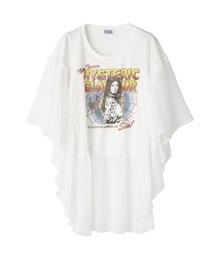 WEB OF SIN フリルTシャツホワイト
